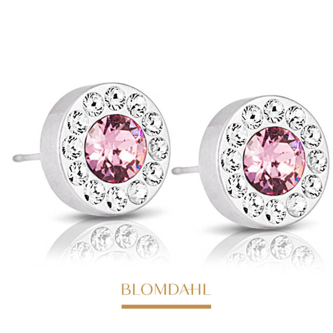 Brilliance Halo Crystal / Light Rose 8 mm SFJ